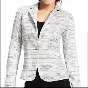 Cabi Women's Black and White Tweed Blazer Jacket